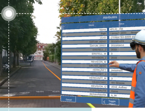 Augmented Reality for geospatial data with swisstopo